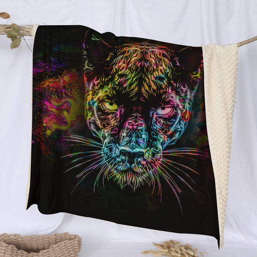 Black Panther Deluxe Minky Blanket-Black Panther-Little Squiffy