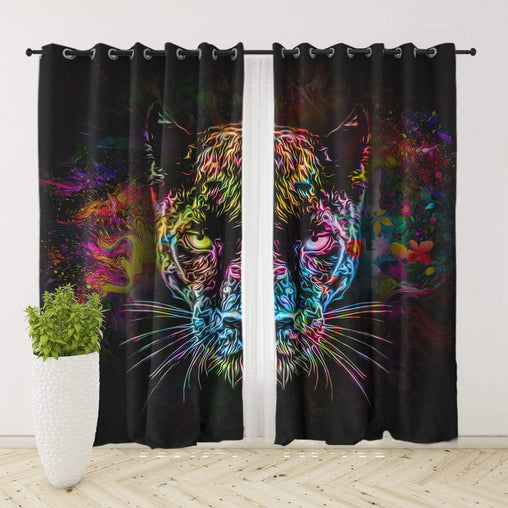 Black Panther Curtain Set-Black Panther-Little Squiffy