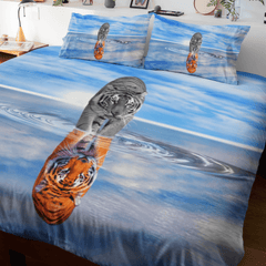 Tiger King - Reflection Quilt Cover Set-Tiger King - Reflection-Little Squiffy