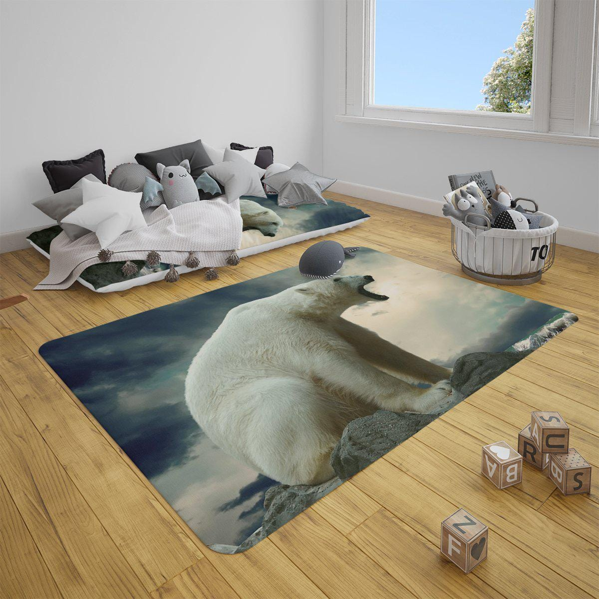Polar Bear Roar Mat-Polar Bear Roar-Little Squiffy