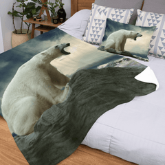 Polar Bear Roar Squiffy Minky Blanket-Polar Bear Roar-Little Squiffy