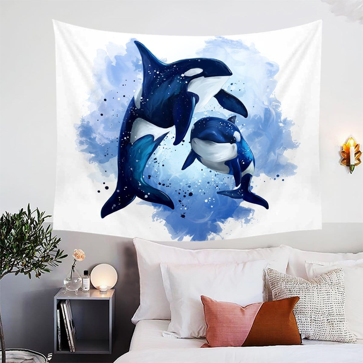 Orcas Of The Sea Tapestry-Orcas Of The Sea-Little Squiffy