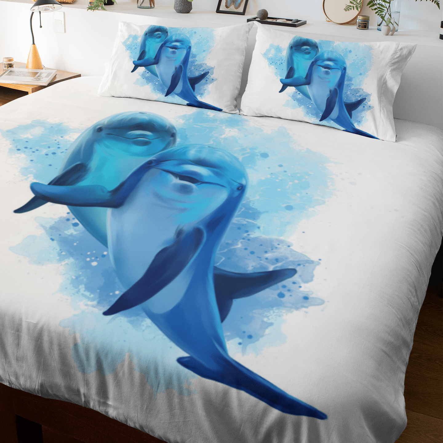 Dolphins Of The Sea Quilt Cover Set-Dolphins Of The Sea-Little Squiffy