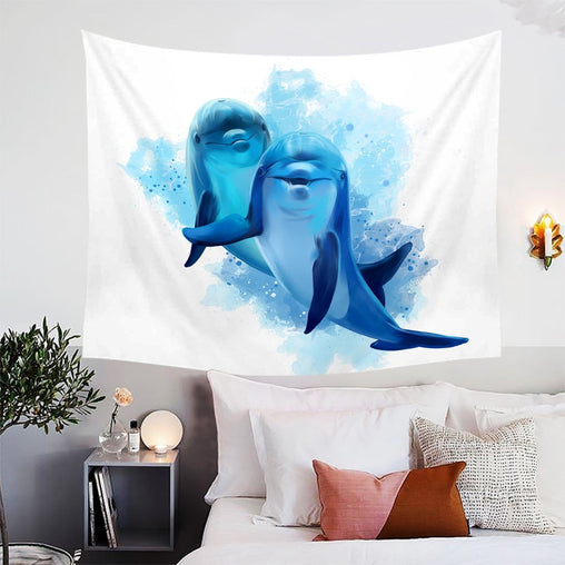Dolphins Of The Sea Tapestry-Dolphins Of The Sea-Little Squiffy