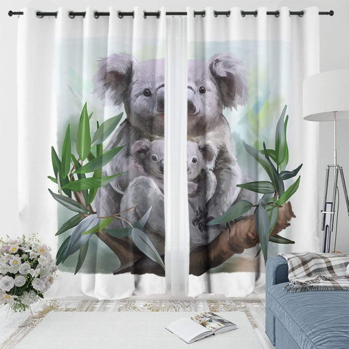 Aussie Koala Curtain Set-Aussie Koala-Little Squiffy