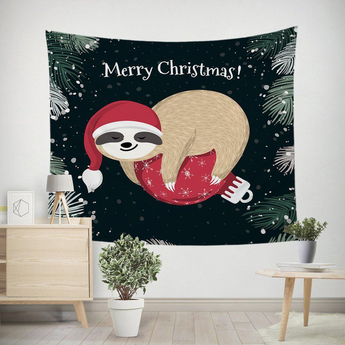 Merry Slothmas Tapestry-Merry Slothmas-Little Squiffy
