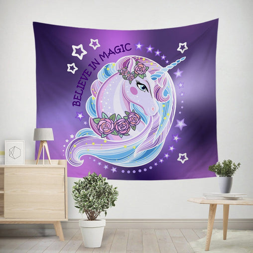 Unicorn Magic Tapestry-Little Squiffy