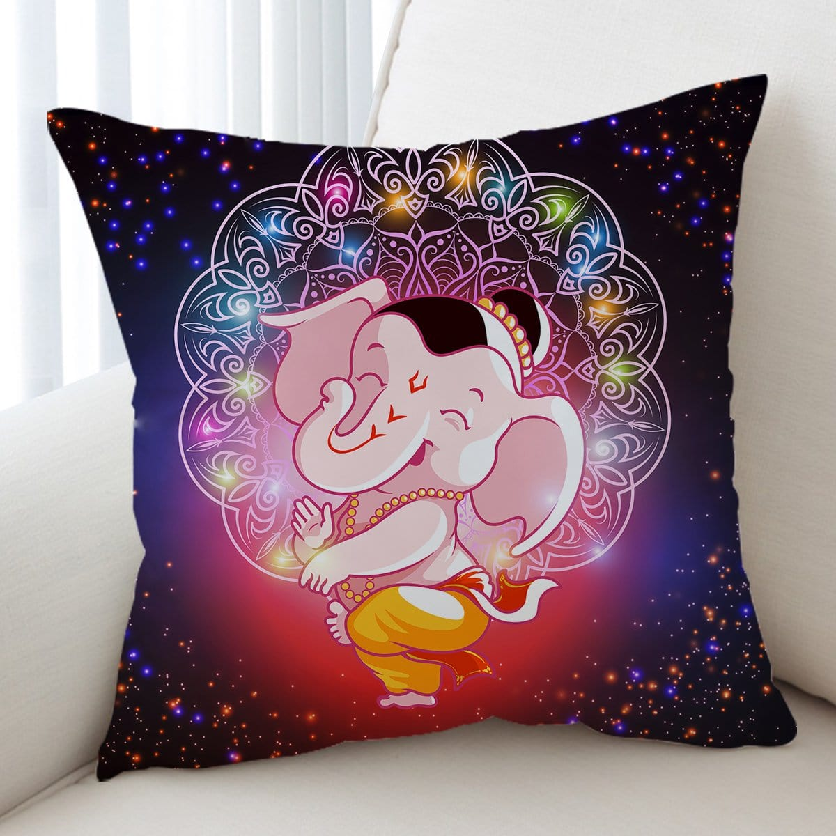 Cartoon Elephant Cushion Cover