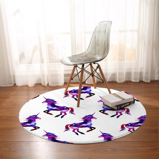 Galaxy Unicorn Round Mat-Galaxy Unicorn-Little Squiffy