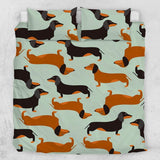 Cartoon Dachshund Quilt Cover Set