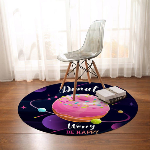 Donut Worry Round Mat-Donut Worry-Little Squiffy