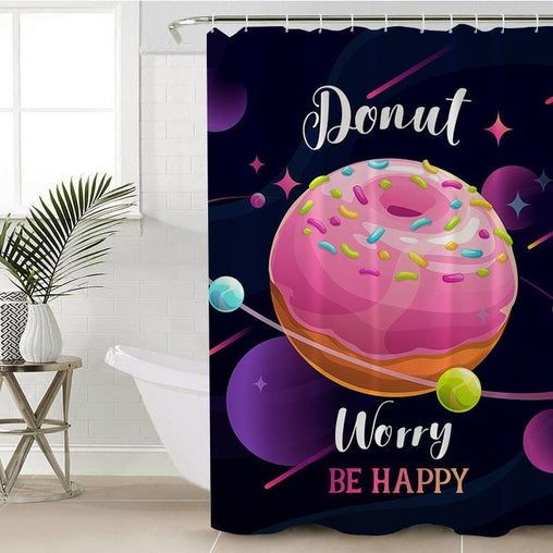 Donut Worry Shower Curtain-Donut Worry-Little Squiffy