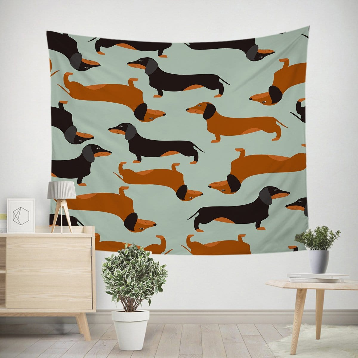 Cartoon Dachshund Tapestry-Little Squiffy