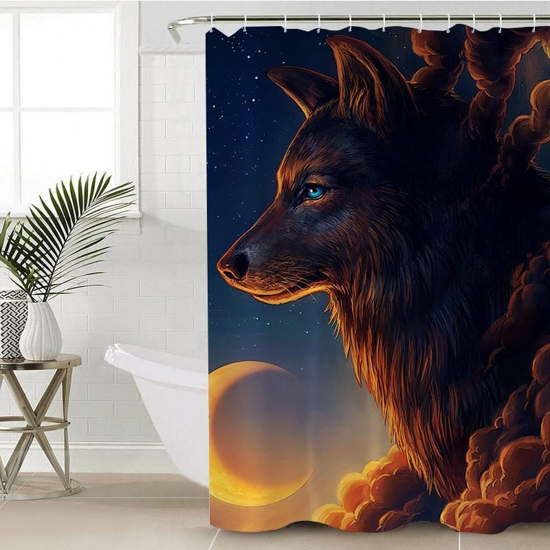 Night Guardian Shower Curtain-Night Guardian-Little Squiffy