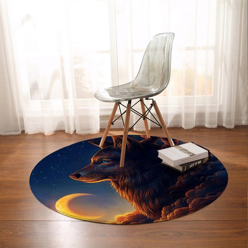 Night Guardian Round Mat-Night Guardian-Little Squiffy