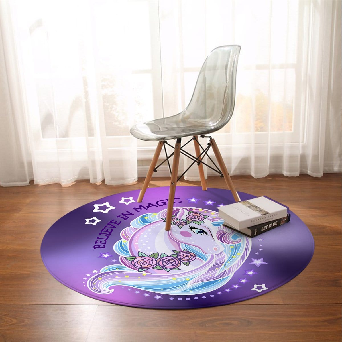 Unicorn Magic Round Mat-Unicorn Magic-Little Squiffy