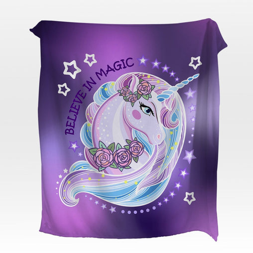 Unicorn Magic Squiffy Minky Blanket-Unicorn Magic-Little Squiffy