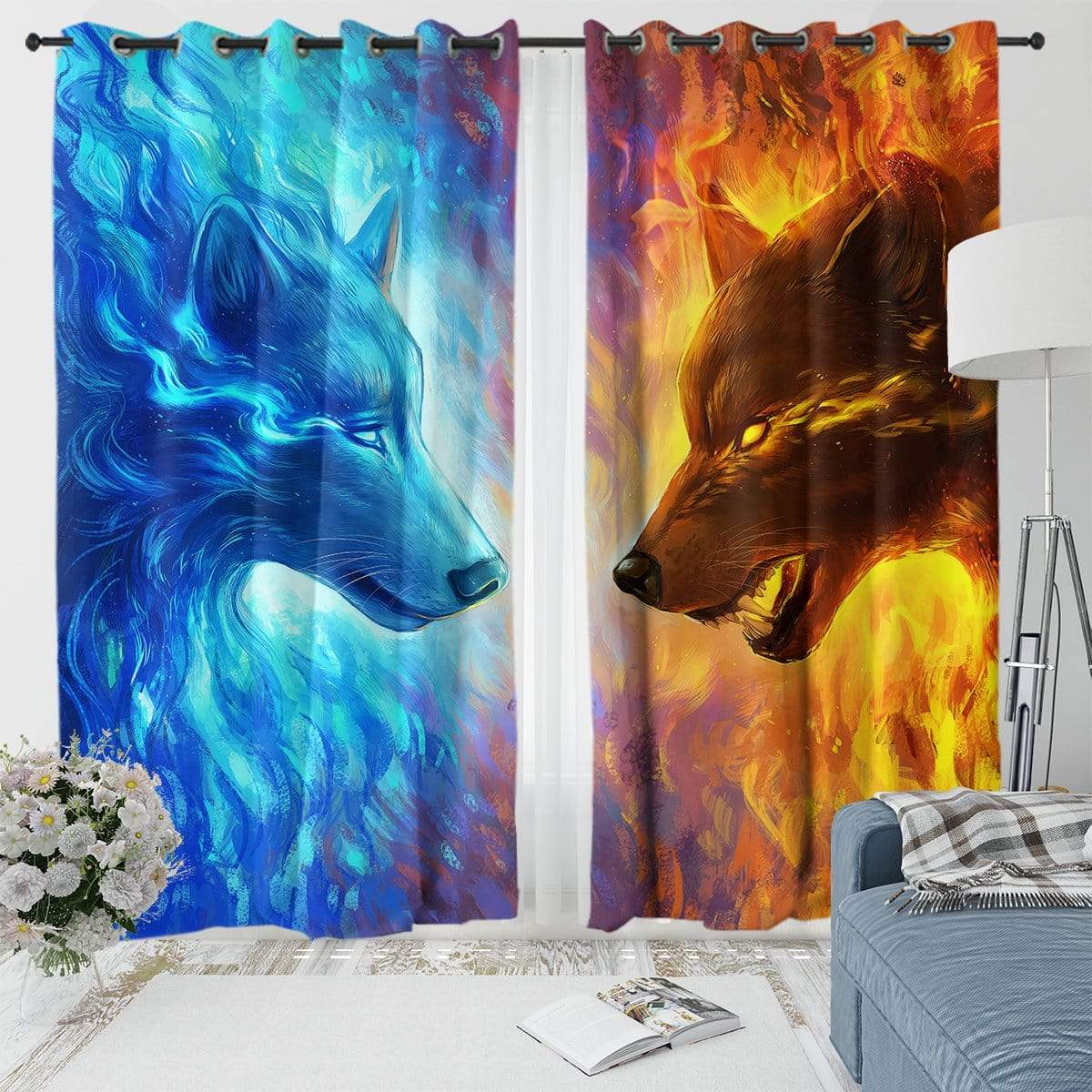 Fire And Ice Curtain Set