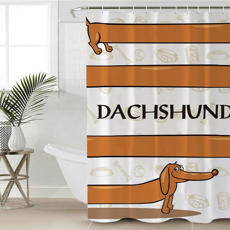 Dachshund Shower Curtain-Dachshund-Little Squiffy