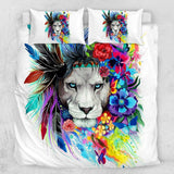 Water Colour Lion Quilt Cover Set