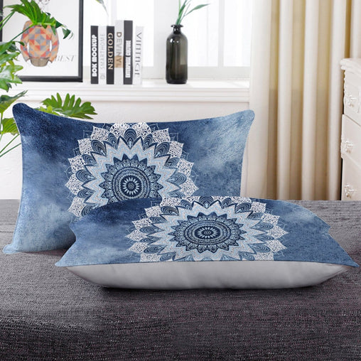 Atlantic Breeze Mandala Pillow Cases