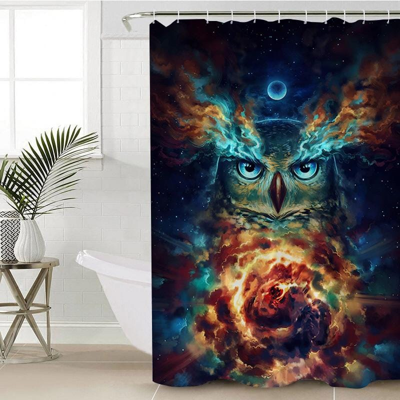 Night Nebowla Shower Curtain-Night Nebowla-Little Squiffy