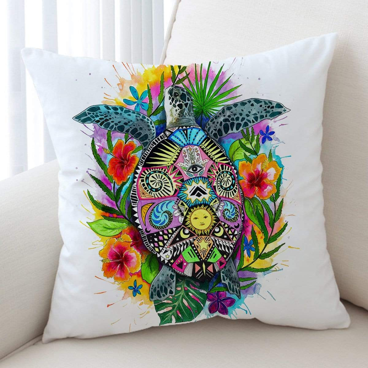 Turtle Of Life Cushion Cover