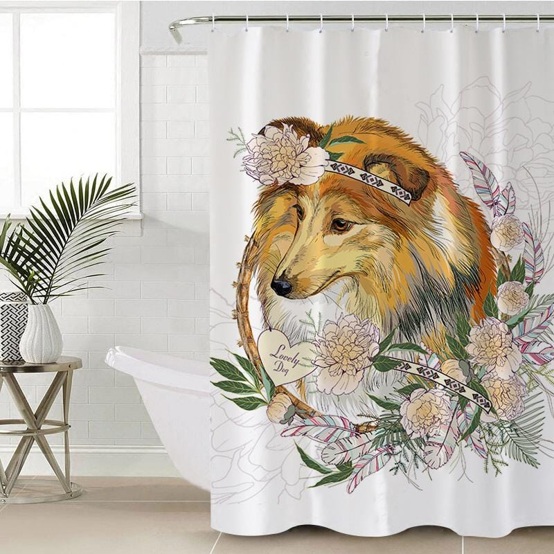 Lassie Collie Shower Curtain-Lassie Collie-Little Squiffy