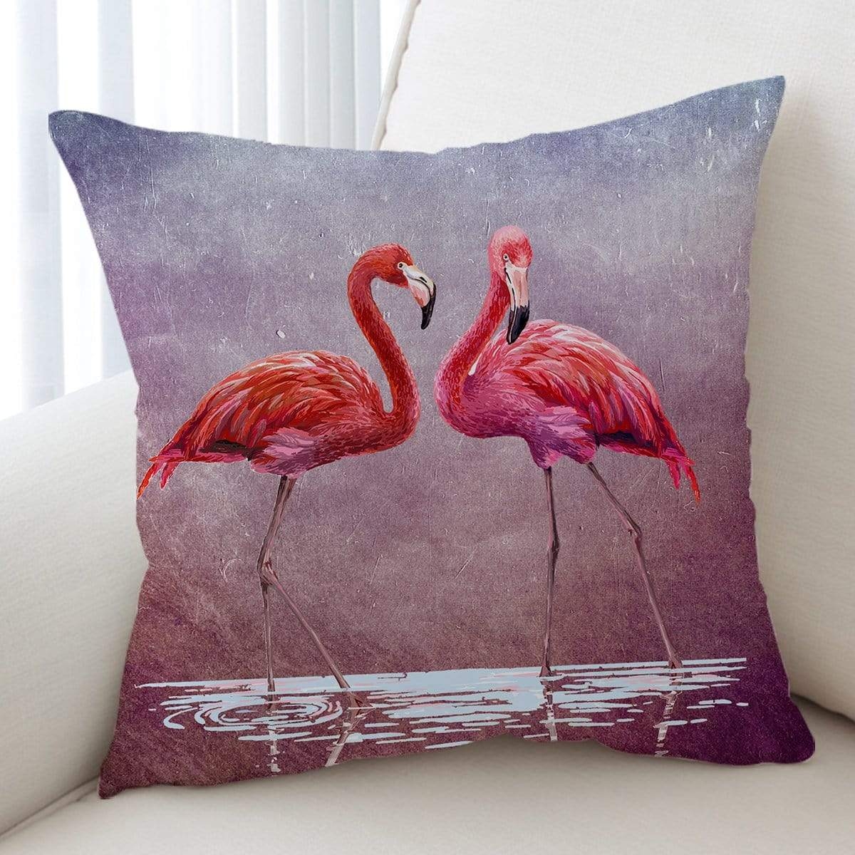 Pink Lake Flamingo Cushion Cover