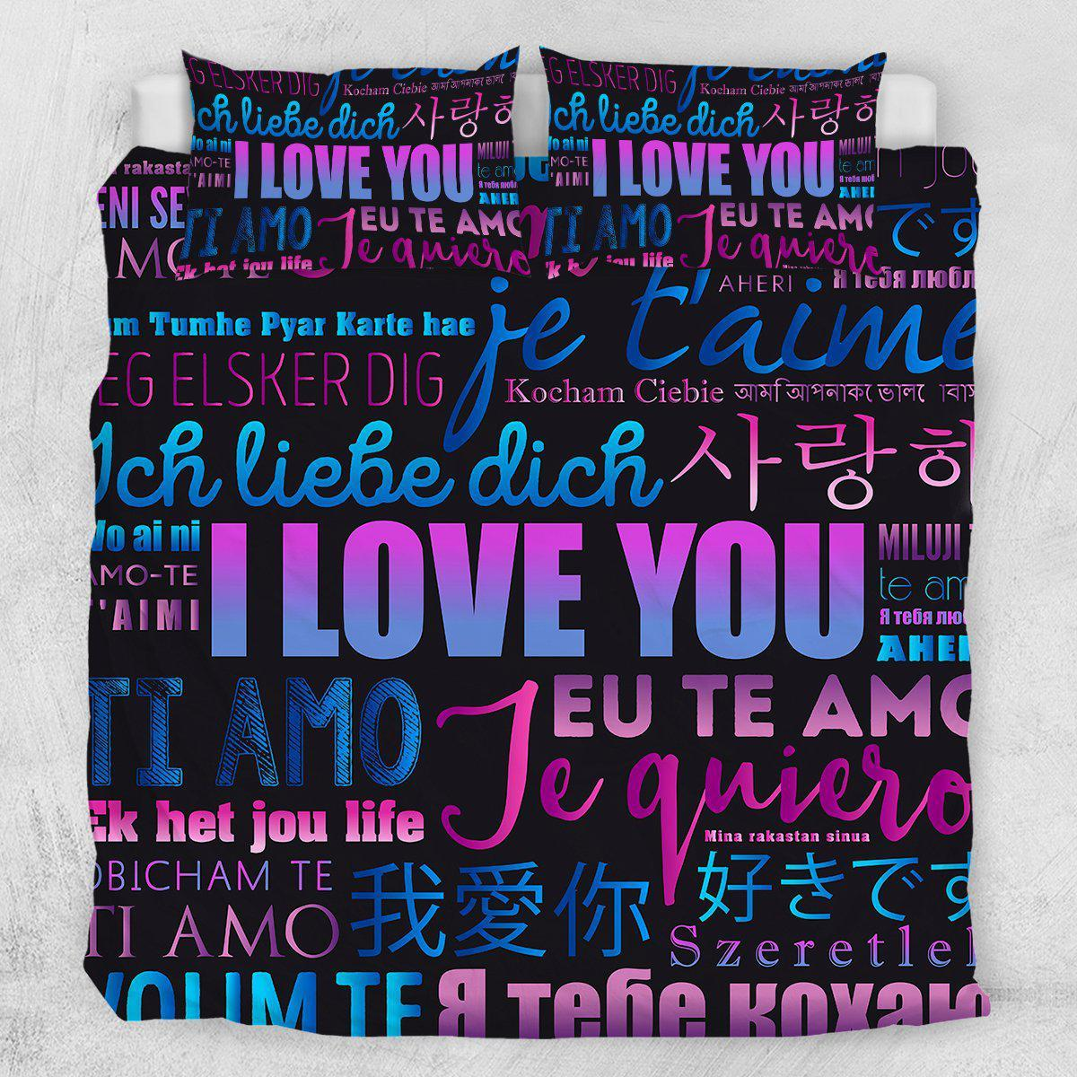 I Love You Quilt Cover Set