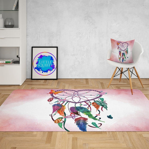 Pink Heart Dreamcatcher Mat