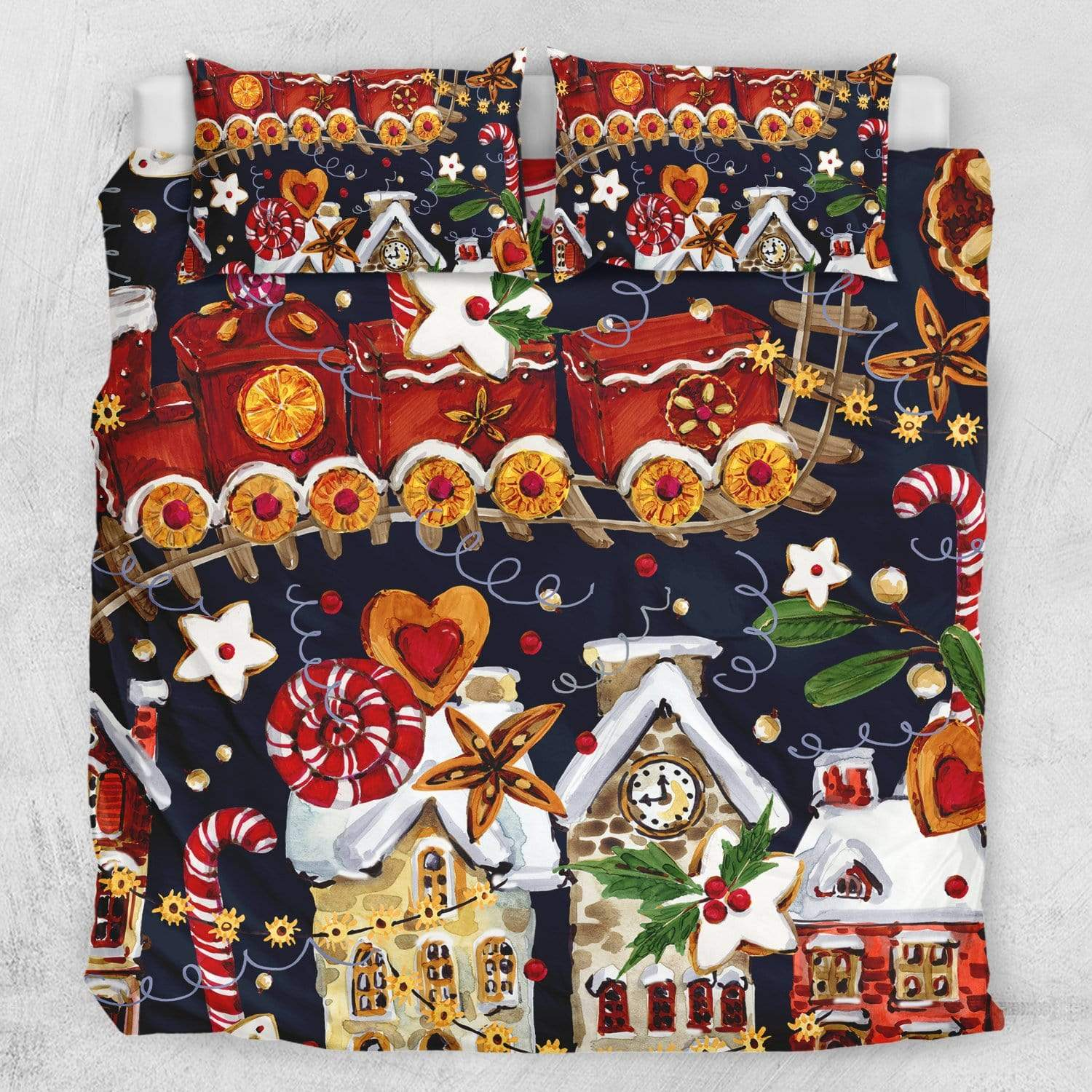 Christmas Holiday Quilt Cover Set-Christmas Holiday-Little Squiffy