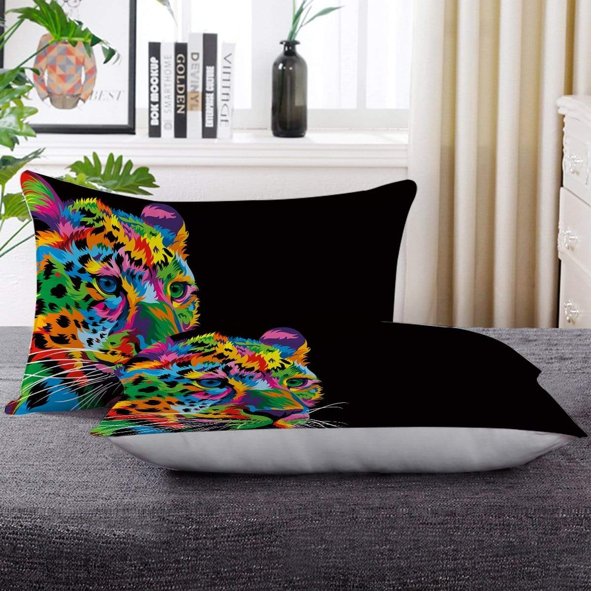 Bright Cheetah Pillow Cases-Little Squiffy