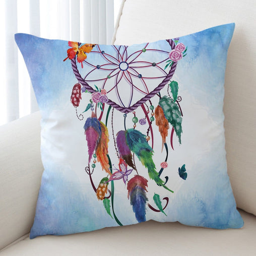 Blue Dreamcatcher Cushion Cover