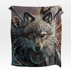 Wolf Warrior Squiffy Minky Blanket-Wolf Warrior-Little Squiffy