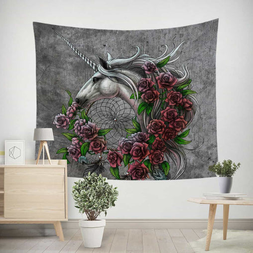 Rose Dreamcatcher Tapestry-Little Squiffy