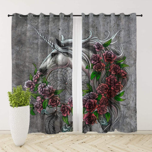 Rose Dreamcatcher Curtain Set