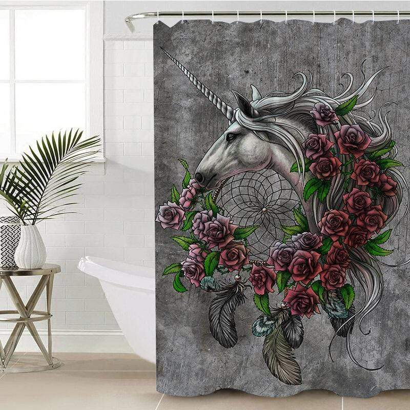 Rose Dreamcatcher Shower Curtain-Rose Dreamcatcher-Little Squiffy