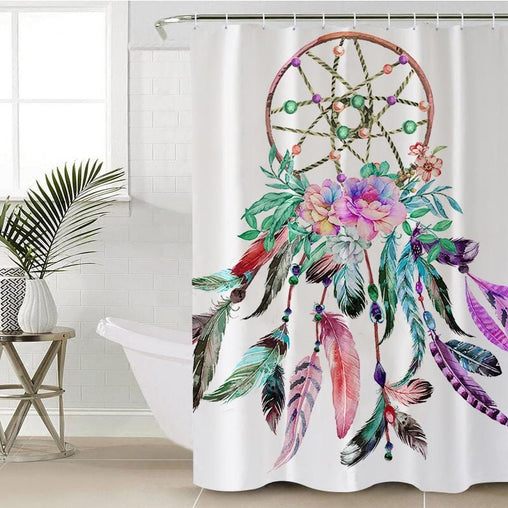 Bohemian Dreamcatcher Shower Curtain-Bohemian Dreamcatcher-Little Squiffy
