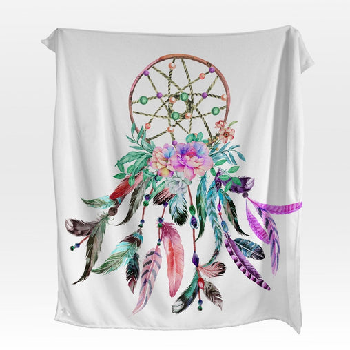 Bohemian Dreamcatcher Squiffy Minky Blanket-Bohemian Dreamcatcher-Little Squiffy