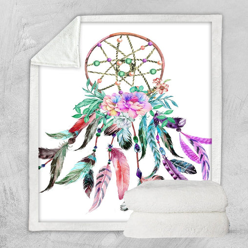 Bohemian Dreamcatcher Blanket-Little Squiffy