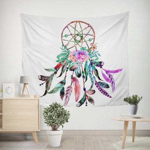 Bohemian Dreamcatcher Tapestry-Little Squiffy
