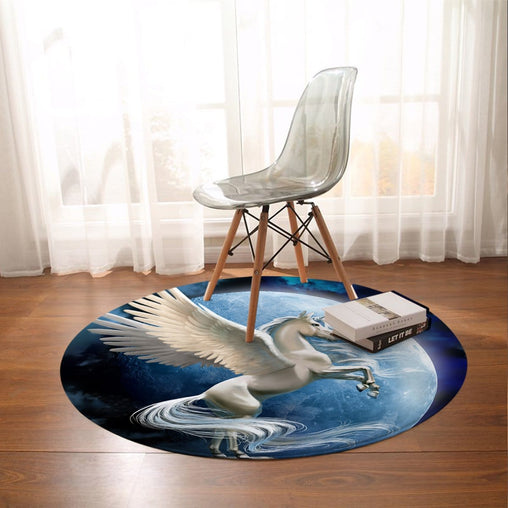 Flying Pegasus Round Mat-Flying Pegasus-Little Squiffy