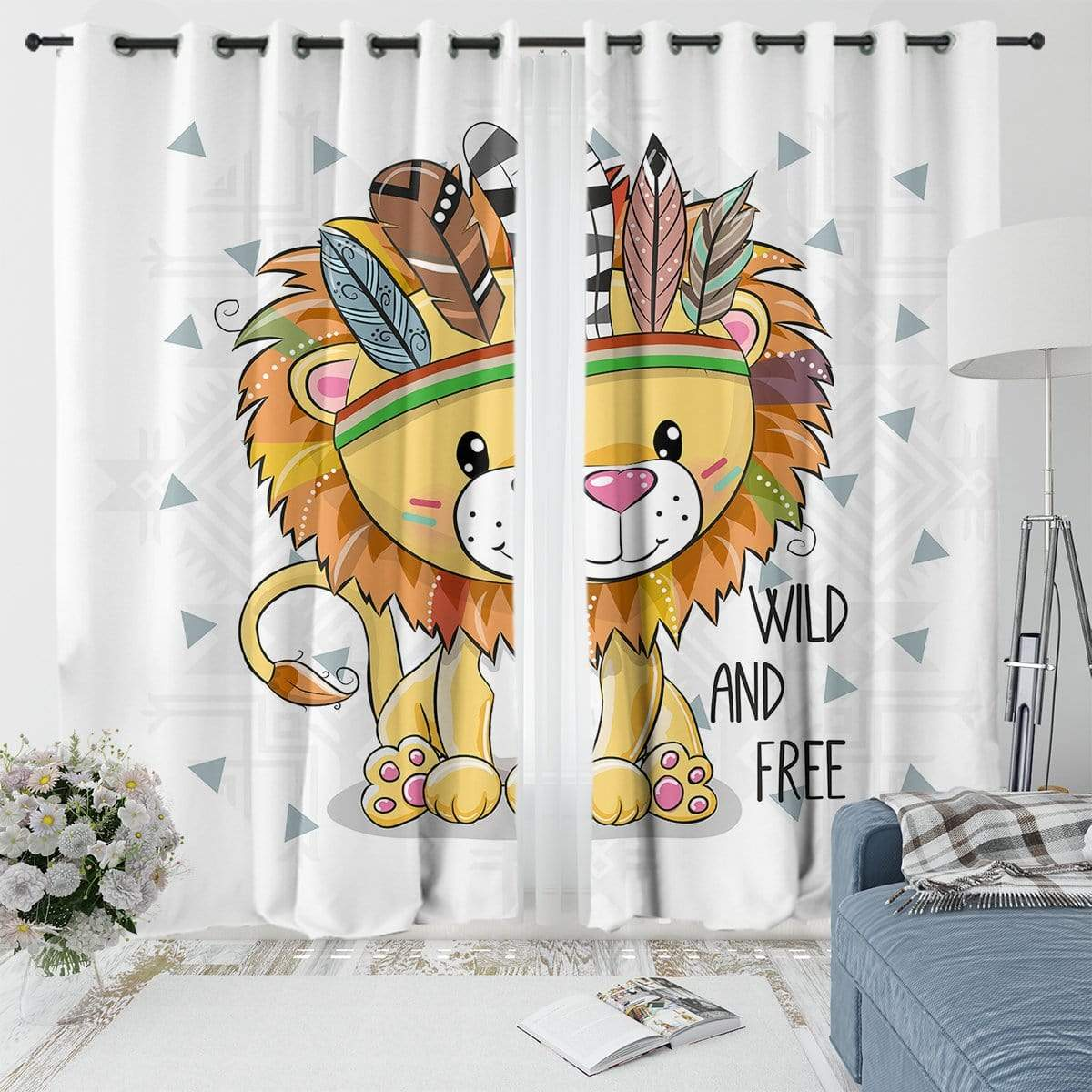 Wild And Free Cub Curtain Set