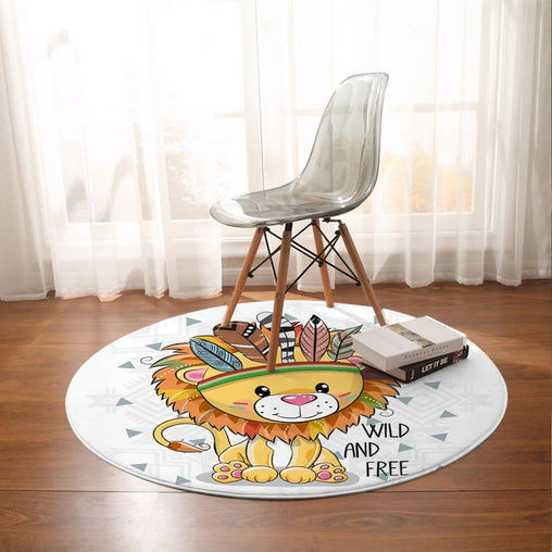Wild and Free Cub Round Mat-Wild and Free Cub-Little Squiffy