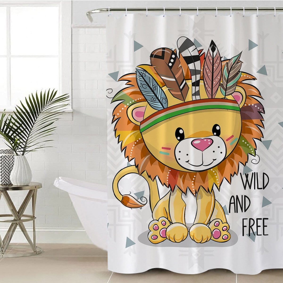 Wild and Free Cub Shower Curtain-Wild and Free Cub-Little Squiffy