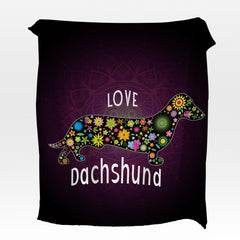 Dachshund Love Squiffy Minky Blanket-Dachshund Love-Little Squiffy