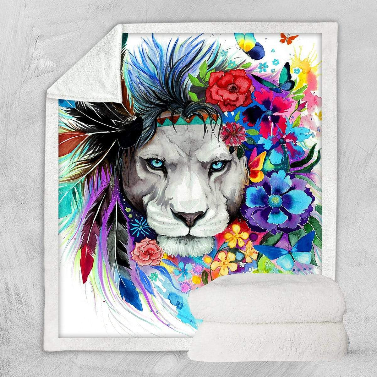 Water Colour Lion Blanket-Little Squiffy