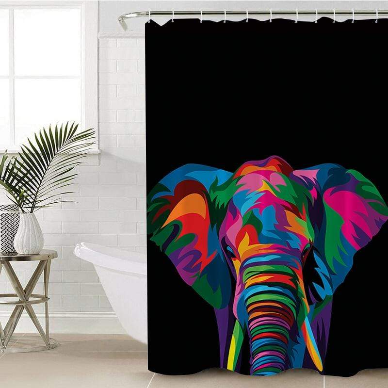 Spiritual Elephant Shower Curtain-Spiritual Elephant-Little Squiffy