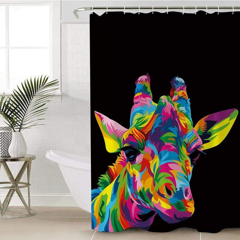 Royal Giraffe Shower Curtain-Royal Giraffe-Little Squiffy